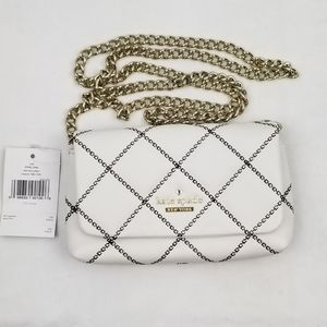 Kate Spade White Off Wallet On Chain